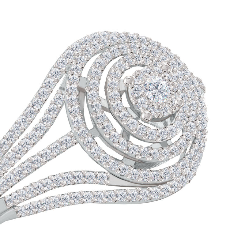 Brilliance Diamond Cocktail Ring 6535 0019 b front