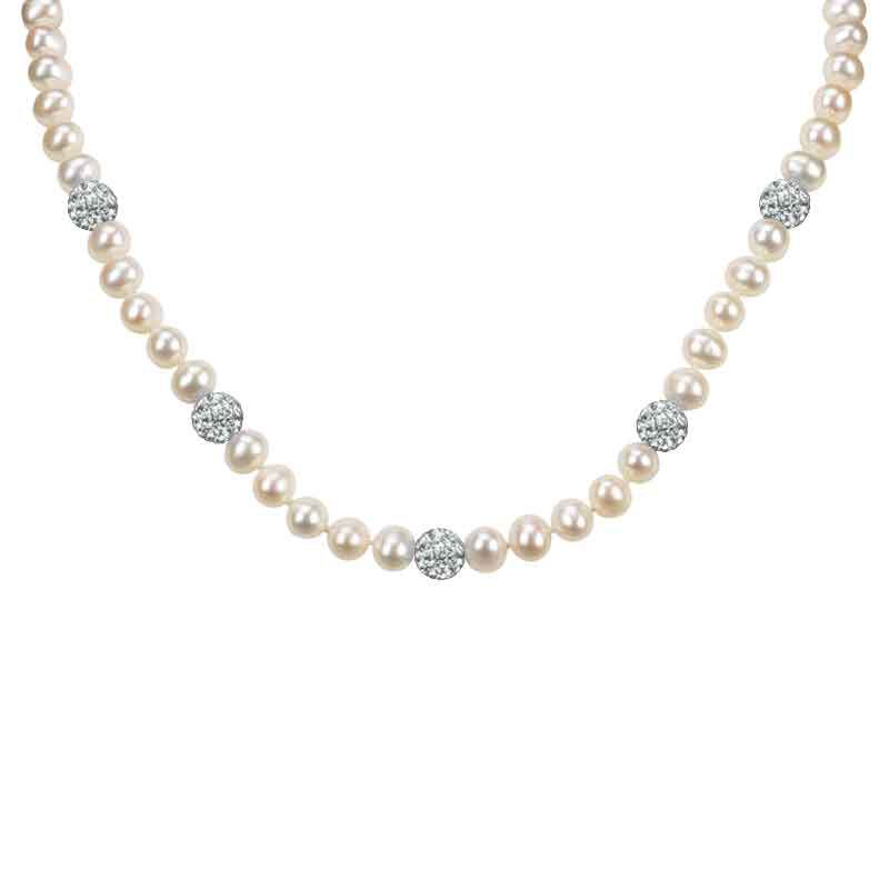 Bedazzled with Birthstones Pearl Necklace 5106 001 0 4