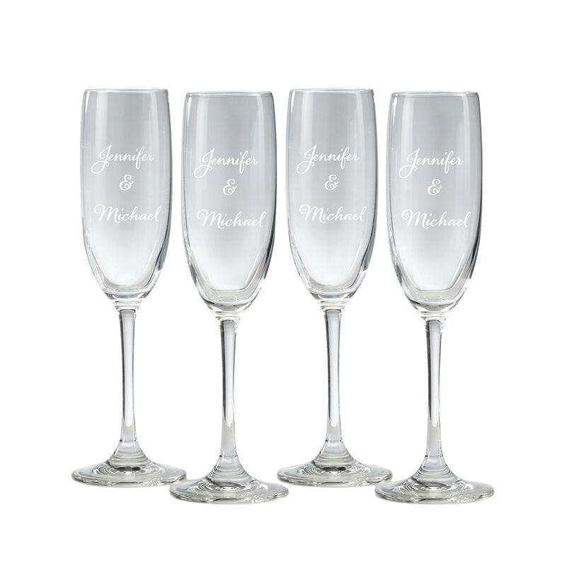 The Personalized Couples Champagne Flutes 10036 0049 a main
