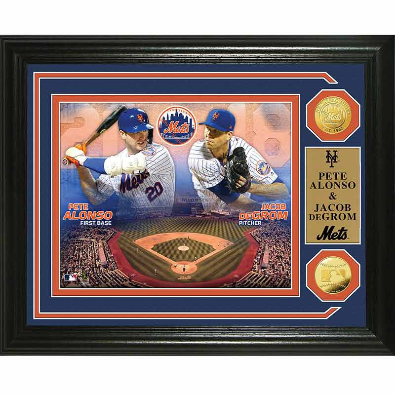 Pete Alonso  Jacob deGrom Duel 2020 Photo Collage 4392 166 7 1