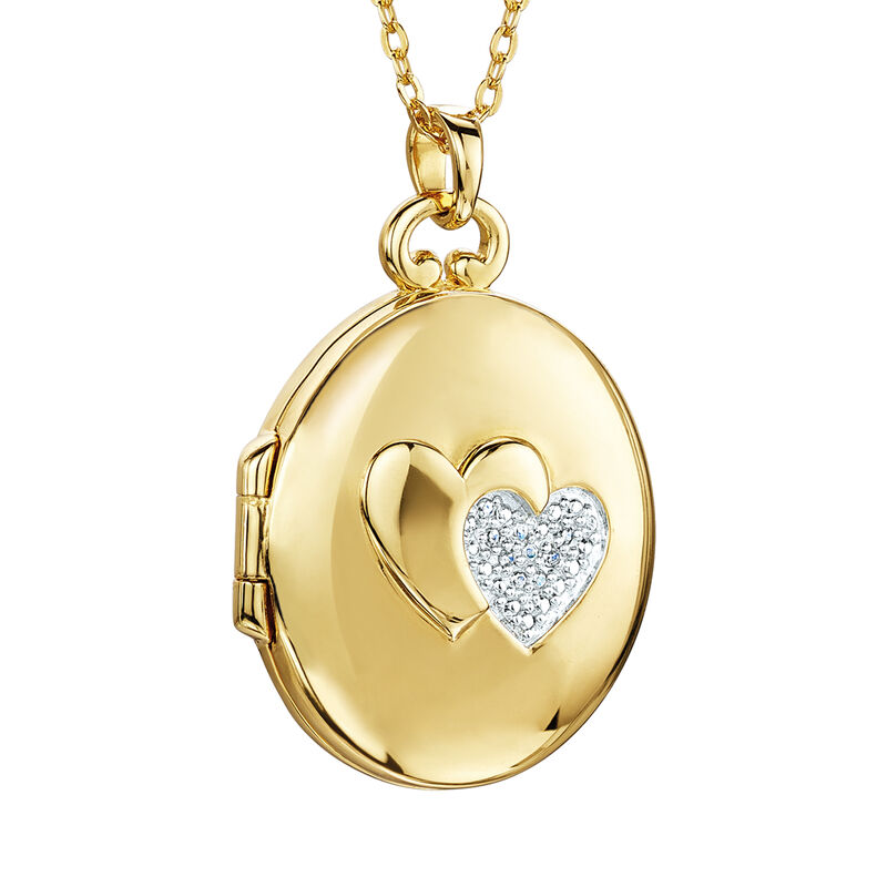 You Mean the World to Me Daughter Diamond Locket Pendant 10216 0017 b front