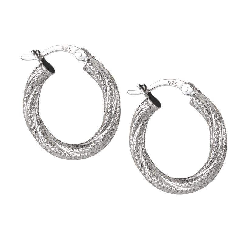 A Sterling Year Silver Hoop Earrings 10633 0012 f earring06