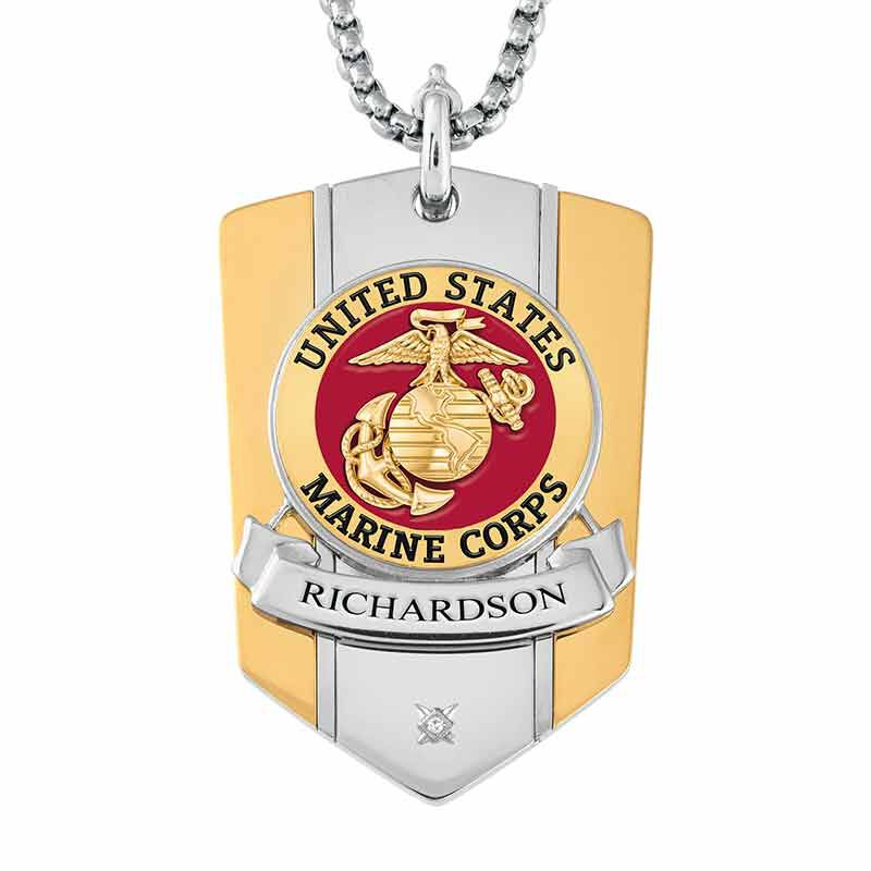 The Personalized Commemorative Marines Pendant 6220 003 5 1