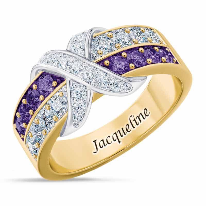 Birthstone Beauty Diamond Kiss Ring 6503 001 7 2