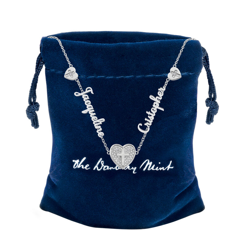 Our Love and Faith Diamond Necklace 10009 0018 g gift pouch