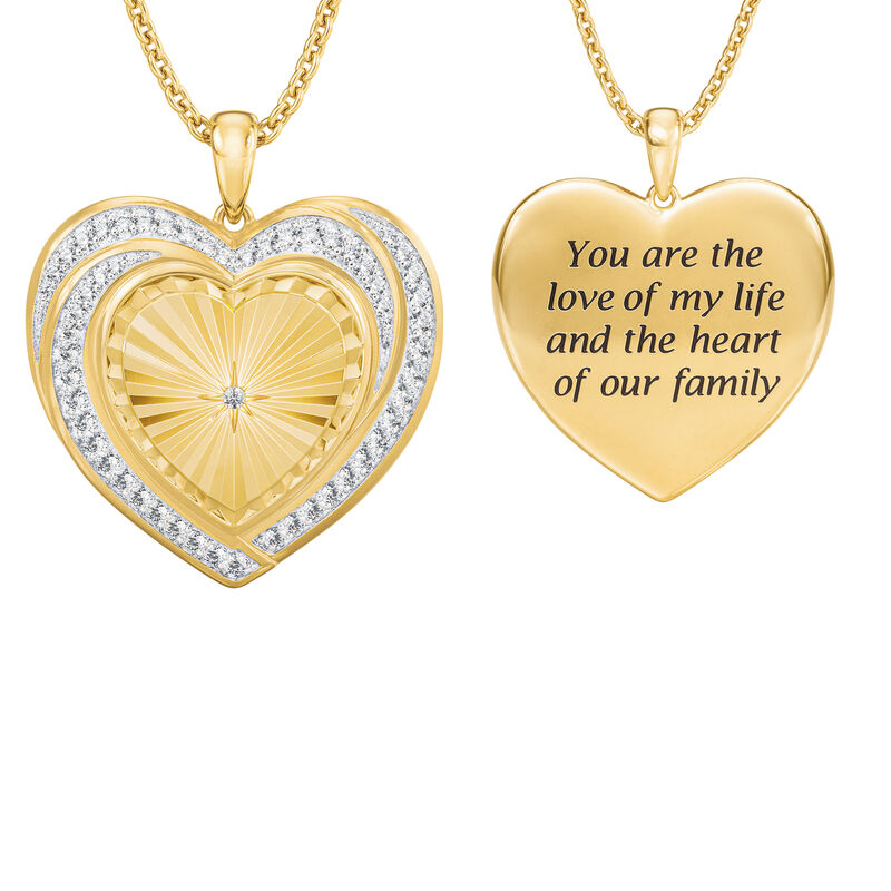 Heart of Our Family Diamond Pendant 10177 0014 a main