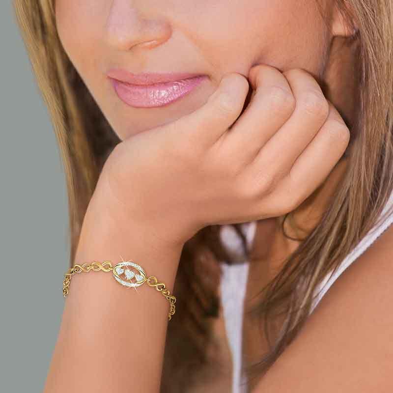 My Daughter I Love You Diamond Bracelet 5445 001 0 4