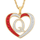 Personalized Diamond Initial Heart Pendant with FREE Poem Card 2300 0060 q initial
