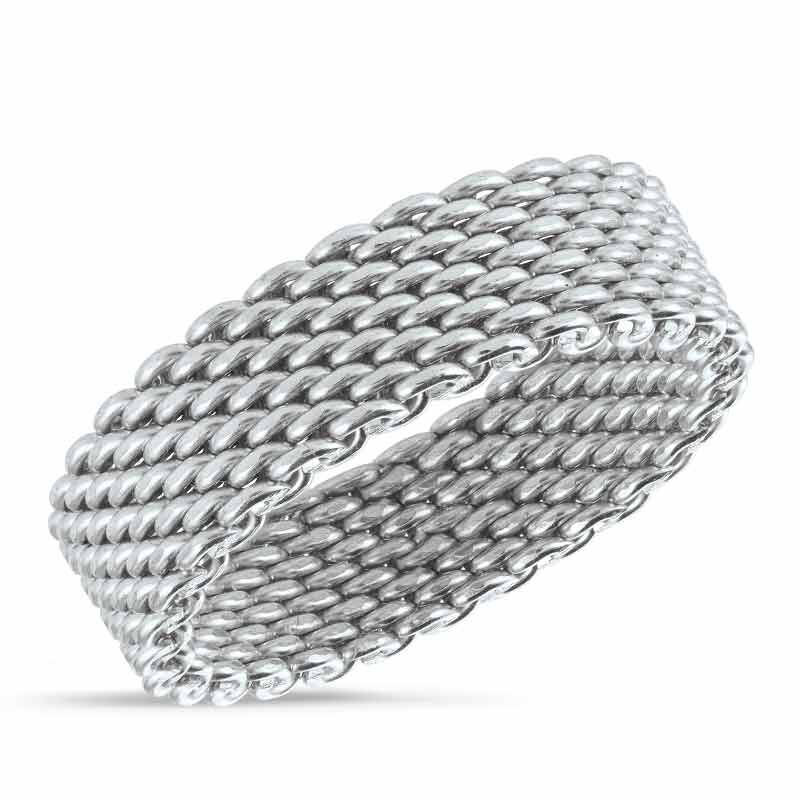 The Sterling Silver Mesh Ring 6211 001 0 1