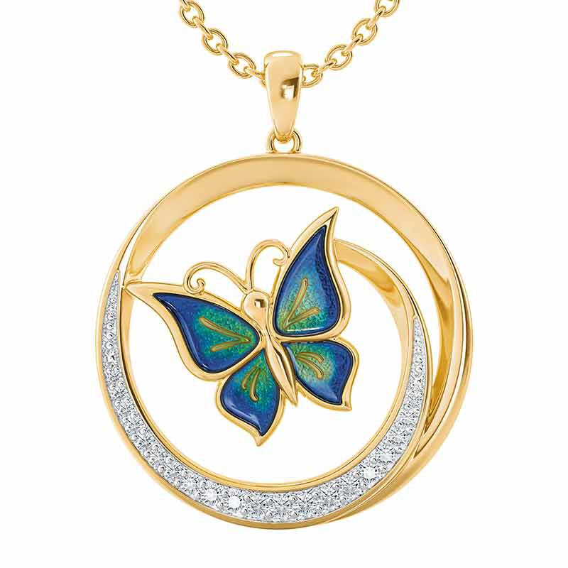Strong Beautiful Loved Butterfly Pendant 6482 001 2 1