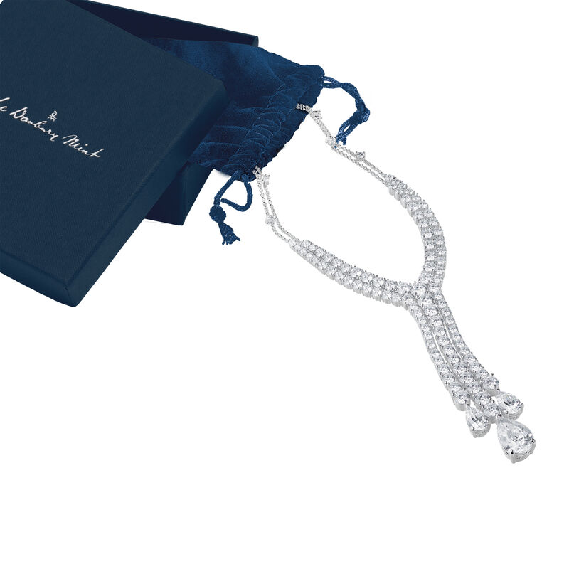 Fabulous Falls Diamonisse Statement Necklace 6492 0010 g gift pouch display