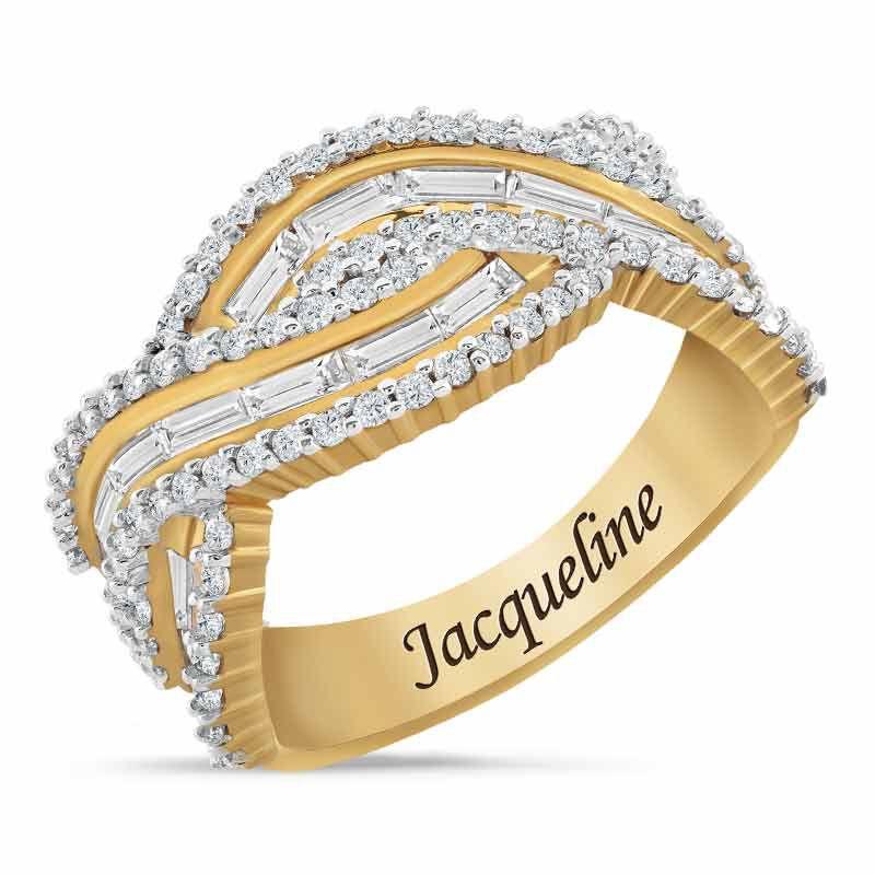 Bold  Brilliant Simulated Diamond Ring 6601 002 6 1