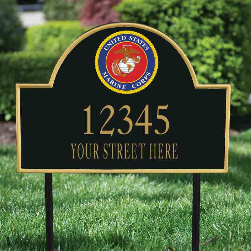 US Marine Corps Personalized Address Plaque 5718 003 6 2