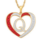 For My Daughter Diamond Initial Heart Pendant 10119 0015 a q initial