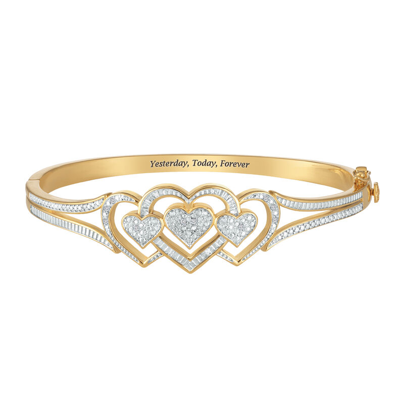 Forever Diamond Hearts Bangle 10220 0011 a main