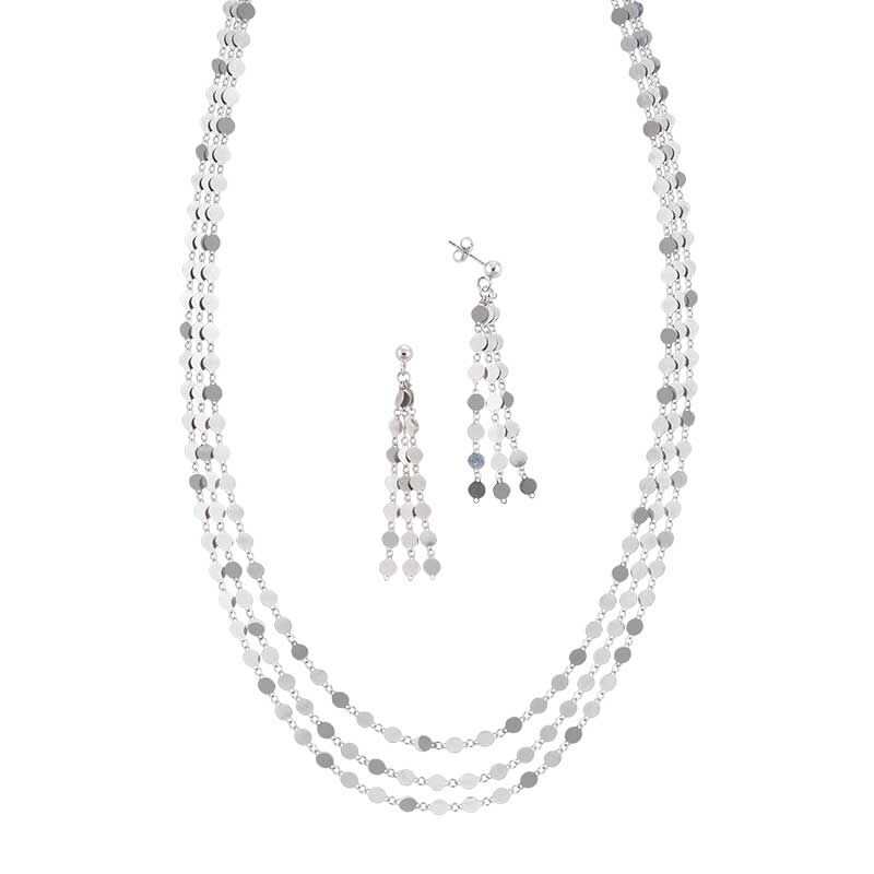 Stunning in Sterling Silver Pendant and Earring Set 6491 001 1 1