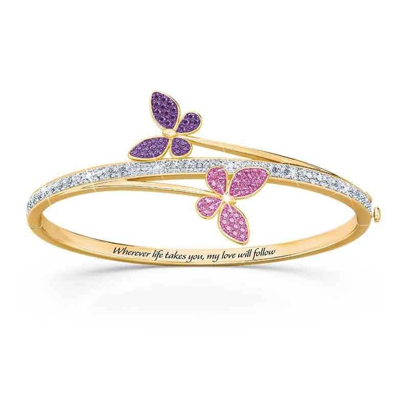 My Love Will Always Follow You Granddaughter Butterfly Bangle 6248 001 7 2