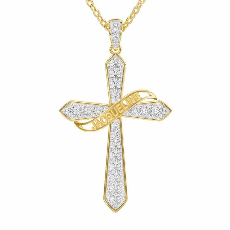 The Birthstone  Diamond Cross Necklace 6787 001 4 4