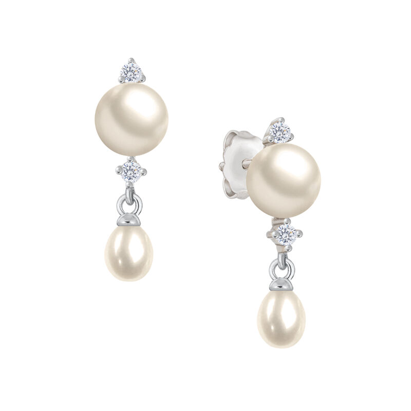 Cascading Pearls Necklace and Earring Set 6741 0019 c earring