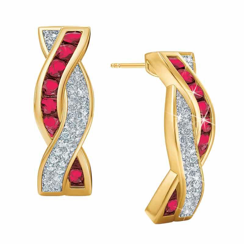 Ruby  Diamond Duet Earrings 5093 005 6 1
