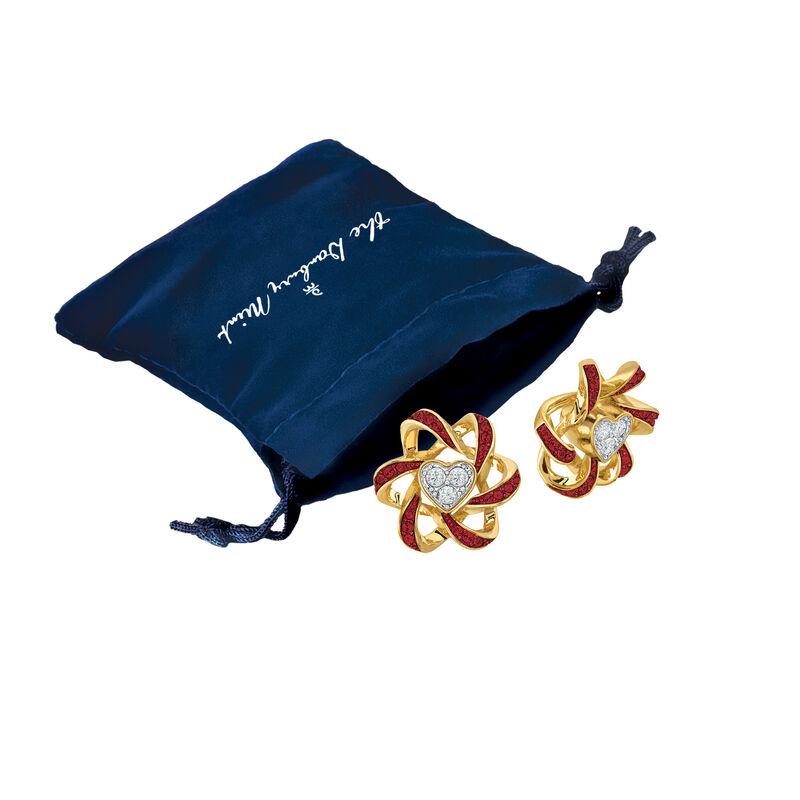 Birthstone Beauty Heart Earrings 2627 0066 m gift pouch