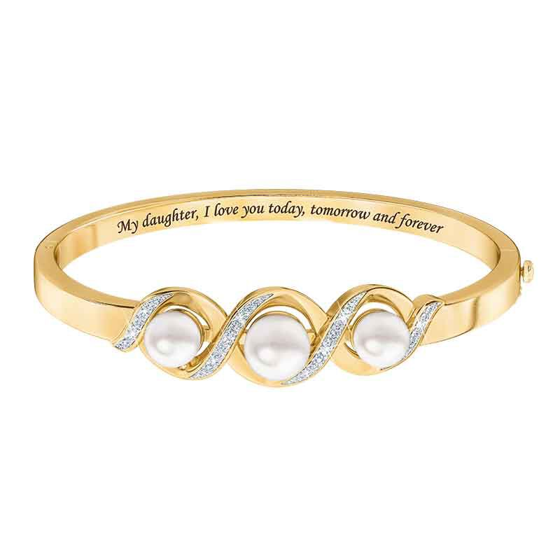 My Daughter Forever Pearl  Diamond Bracelet 2188 001 8 1