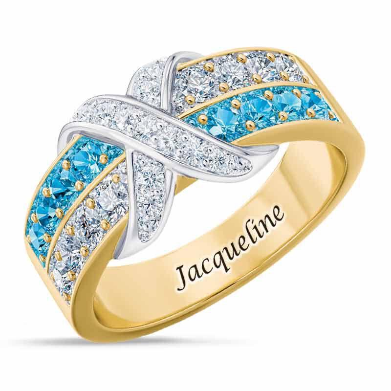 Birthstone Beauty Diamond Kiss Ring 6503 001 7 3
