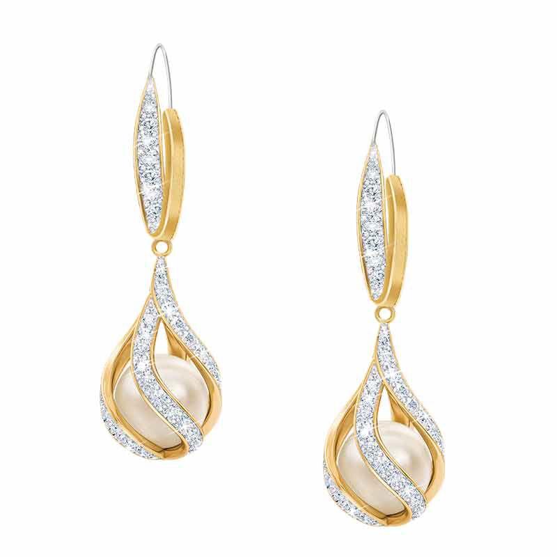 Loves Embrace Pearl  Diamond Earrings 1638 002 4 1