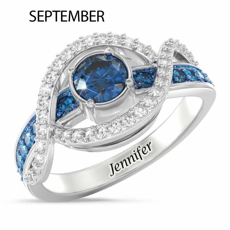 Birthstone Wave Ring 2202 001 0 13