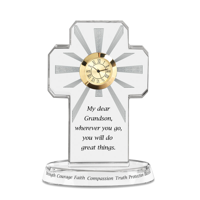 My Blessed Grandson Crystal Desk Clock 6654 0014 a main