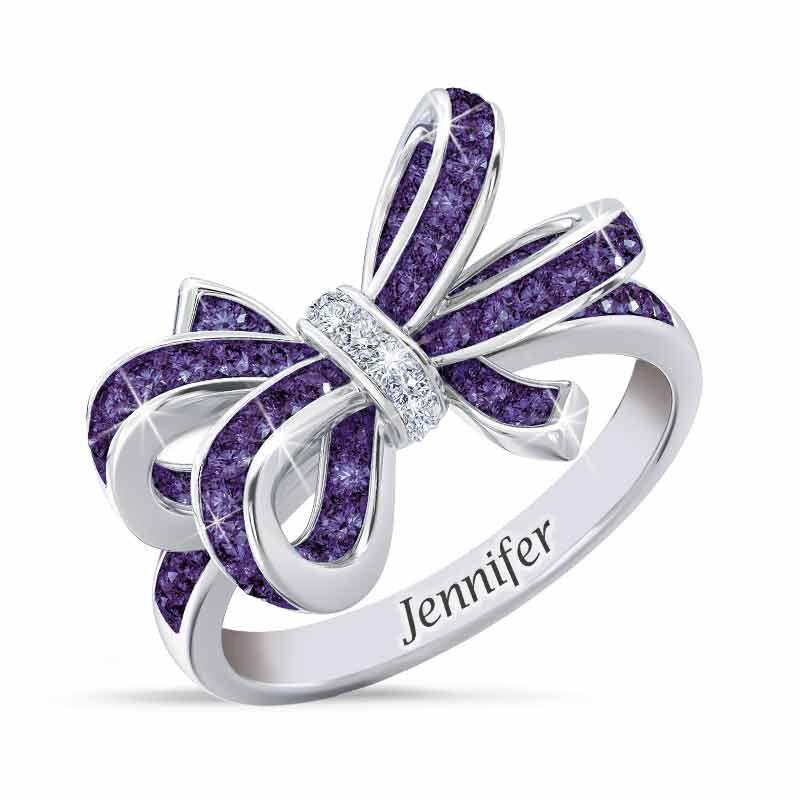 Birthstone  Diamond Bow Ring 1876 001 7 2