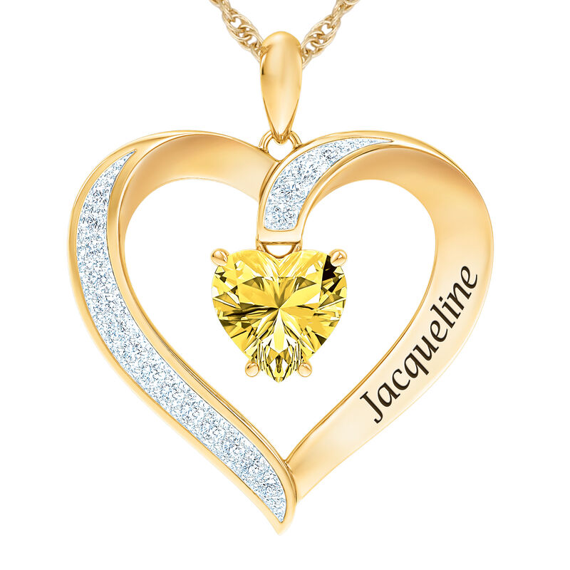 The Birthstone Heart Pendant 6015 0026 k november