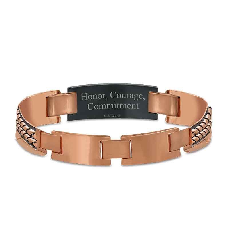 Honor Courage Commitment Copper Bracelet 1291 003 0 3