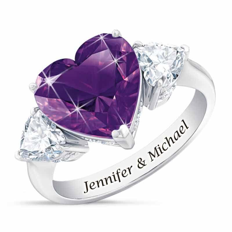 Birthstone Triple Heart Ring 1516 002 1 2