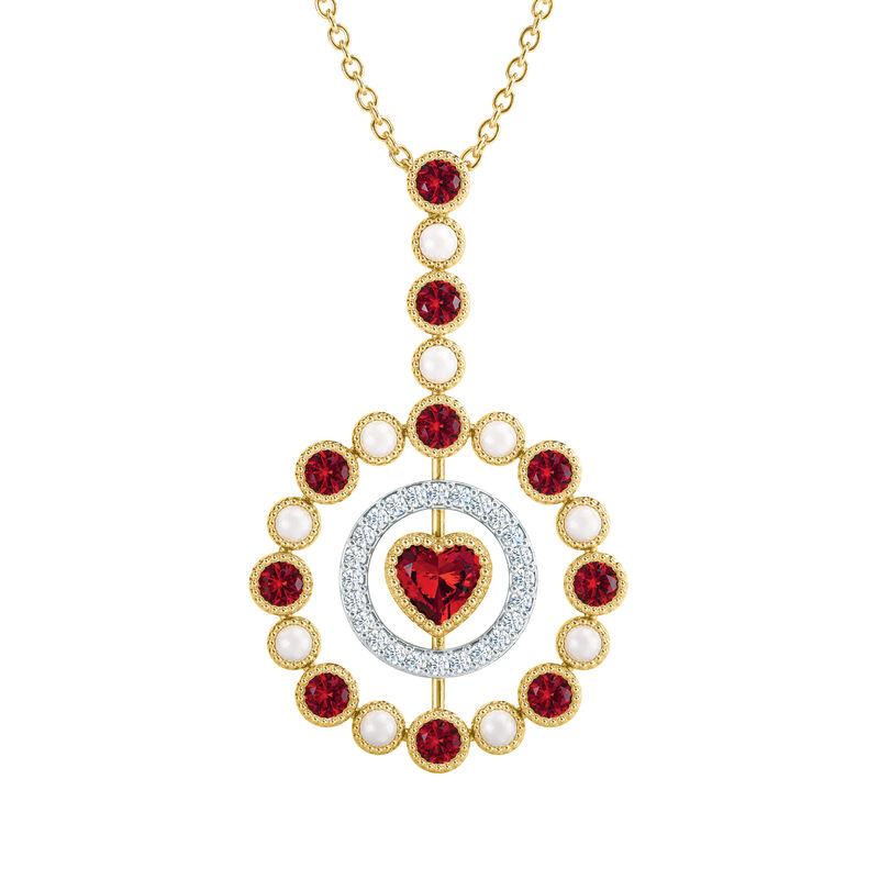 Love Embrace Birthstone Diamond Necklace 6928 0014 a january