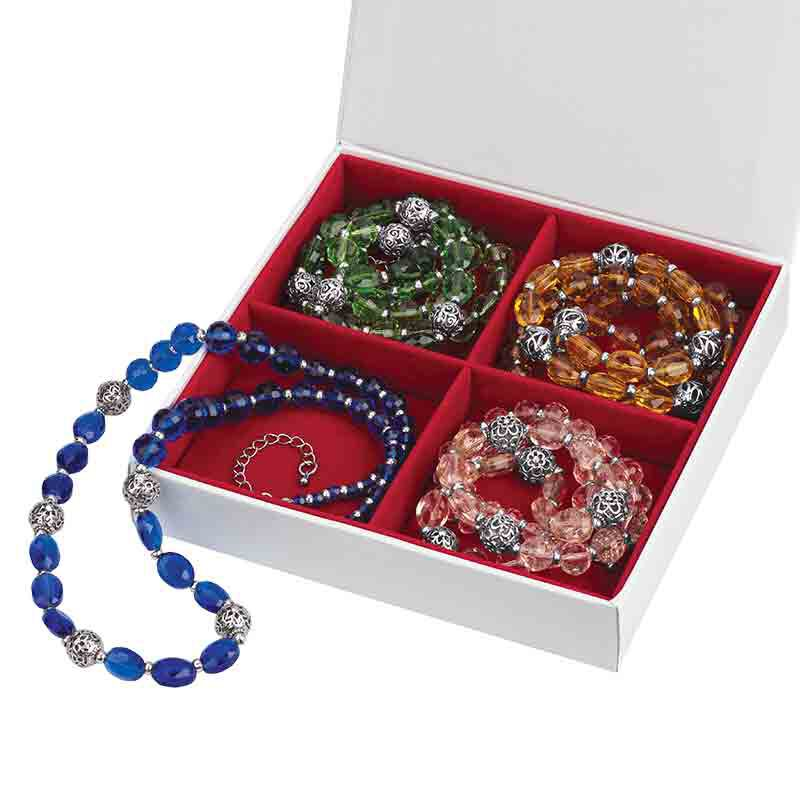 Four Seasons Crystal Necklace Set 1754 001 4 6