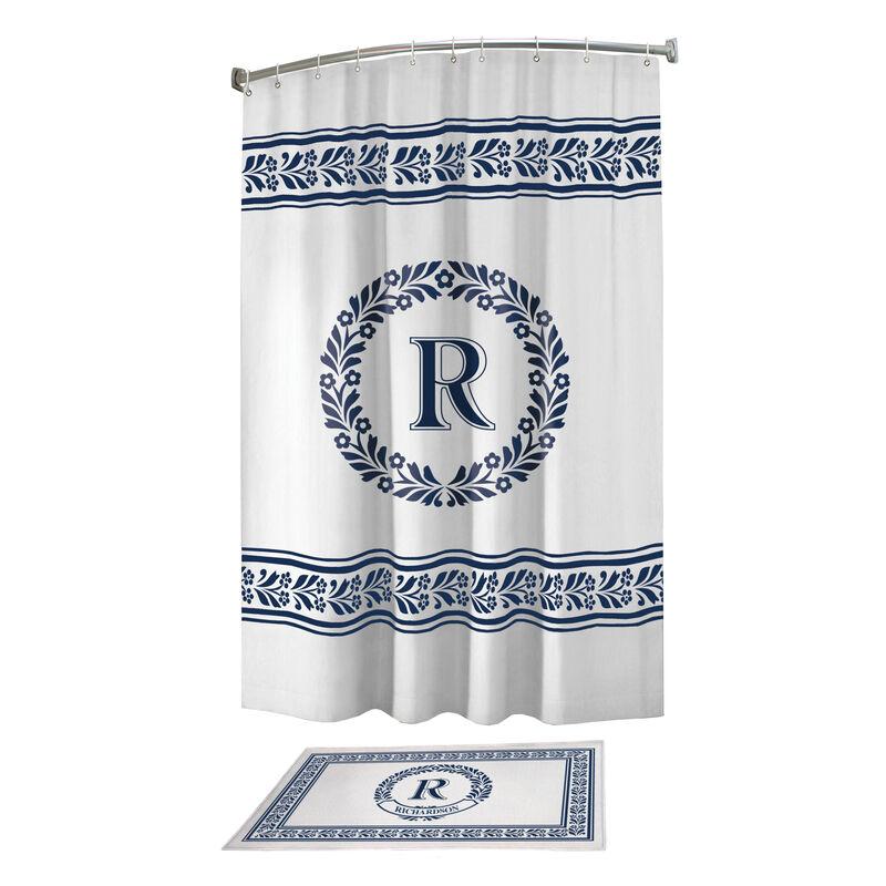 Monogram Bath Mat and Shower Curtain Set 10239 0010 a main