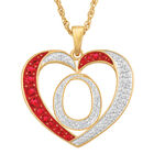 Personalized Diamond Initial Heart Pendant with FREE Poem Card 2300 0060 o initial