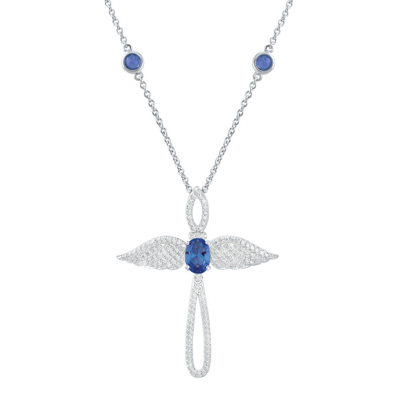 Touched by an Angel Birthstone Necklace 6842 0017 i september