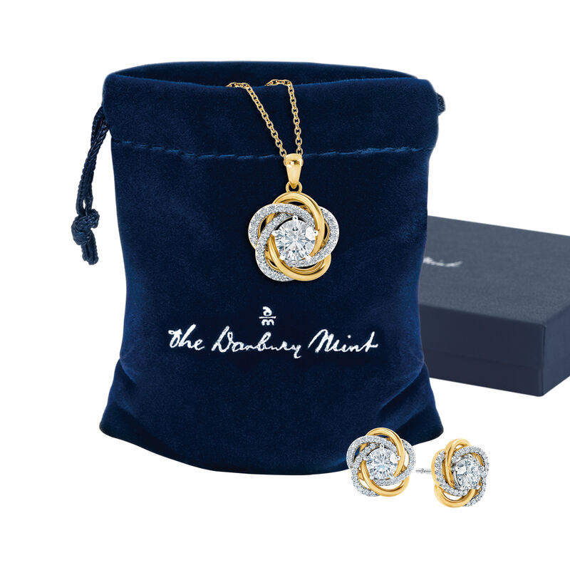 Perfectly Paired Love Knot Pendant with Matching Earrings 4922 0015 g gift pouch box