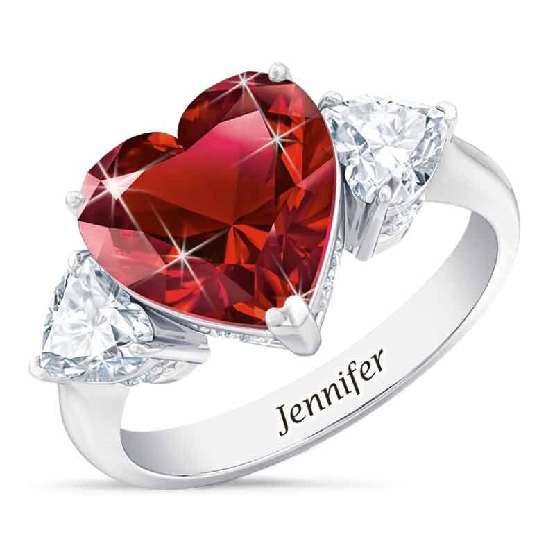 Birthstone Triple Heart Ring 1516 001 3 1