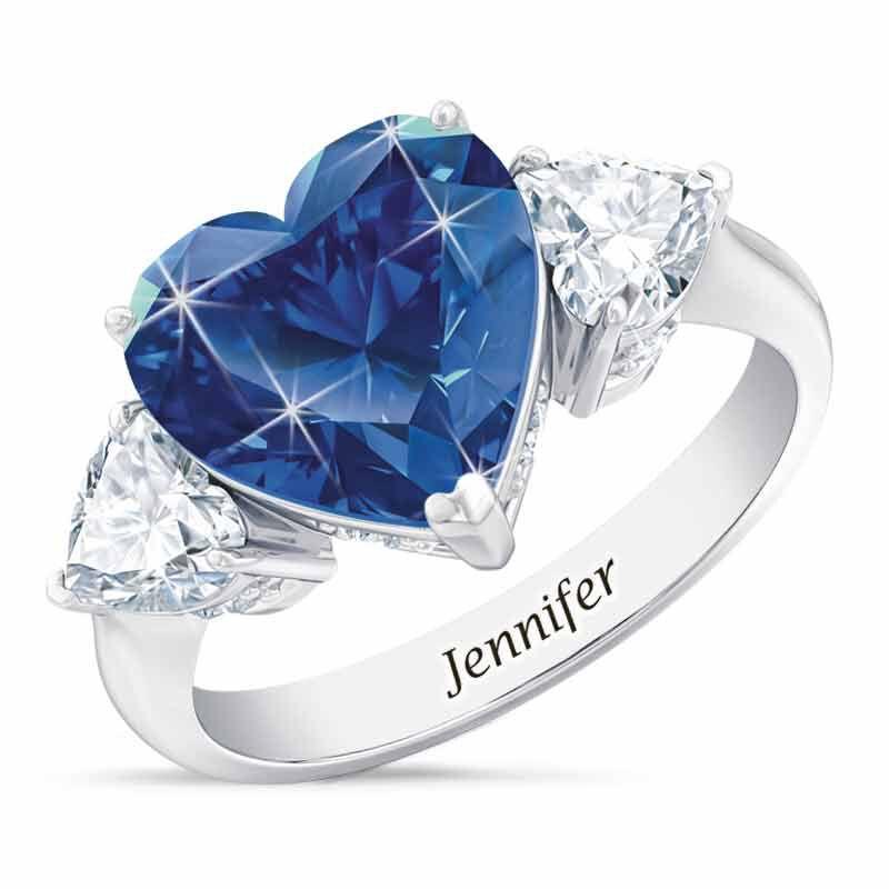 Birthstone Triple Heart Ring 1516 001 3 9