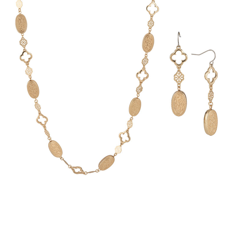 Golden Glow Triple Neck Ear Collection 10580 0015 b necklace