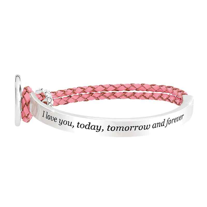 Today Tomorrow Forever Granddaughter Leather Bracelet 6258 001 4 2