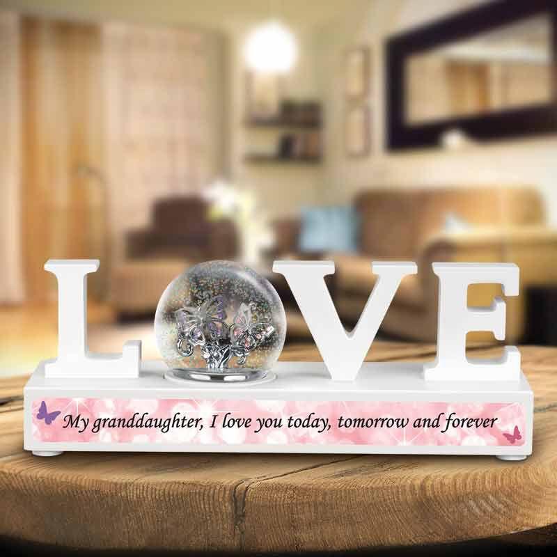 My Granddaughter I Love You Sparkle Globe Desktop Display 5991 001 8 2