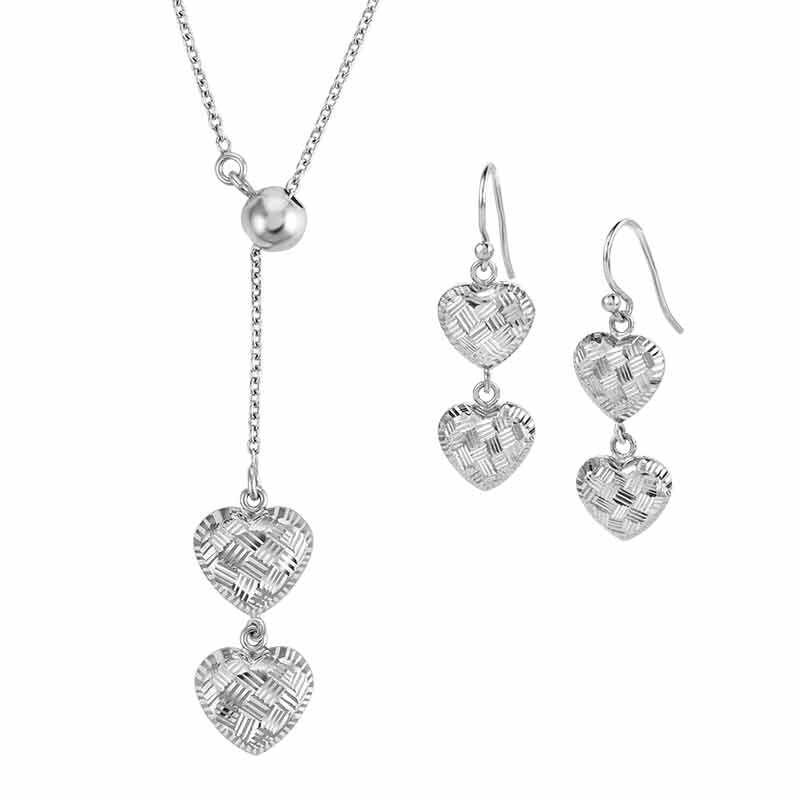 Sensational Silver Pendant  Earring Set 6367 001 2 1