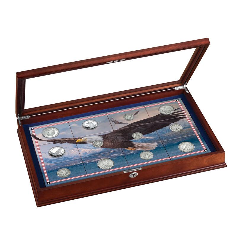 Eagle Silver Coin Collection 10035 0016 a display
