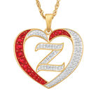 For My Daughter Diamond Initial Heart Pendant 10119 0015 a z initial