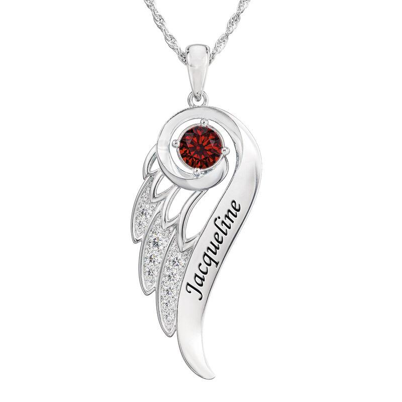 Birthstone Angel Wing Pendant 6893 0015 g july