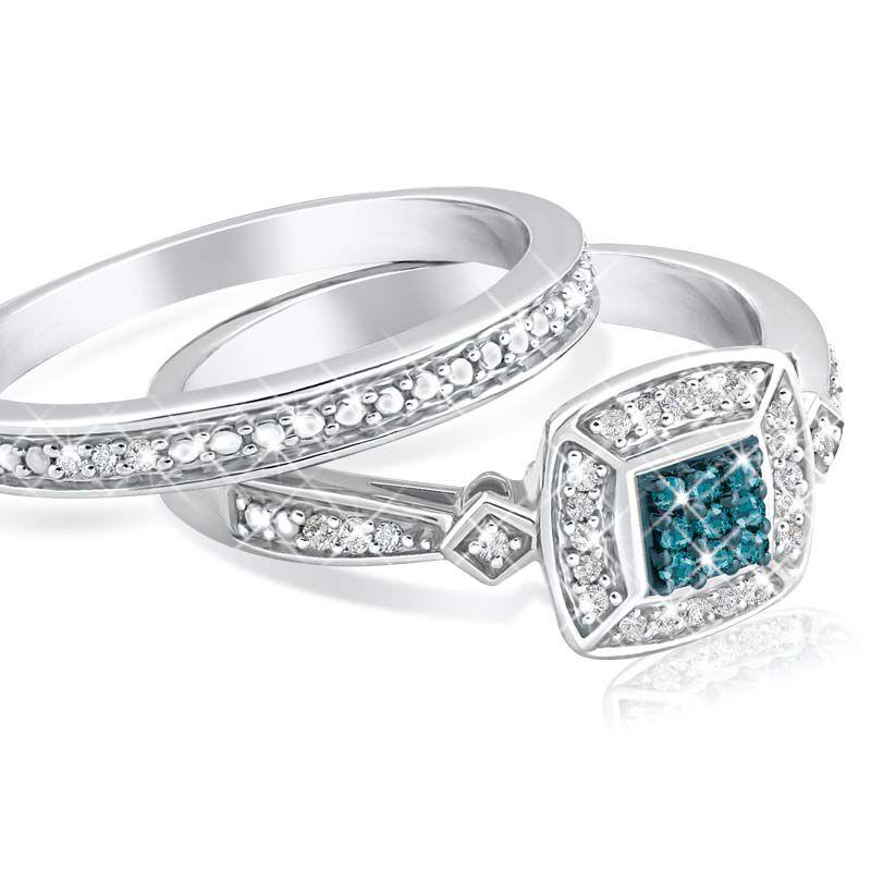 Blue Diamond Bridal Set 4729 001 0 2